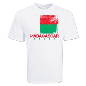 Madagascar Country Rugby Flag T-Shirt