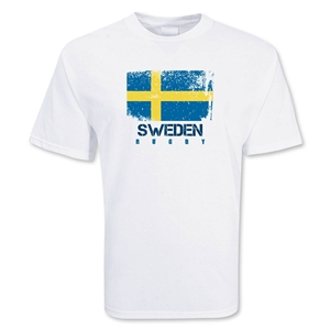 Sweden Country Rugby Flag T-Shirt