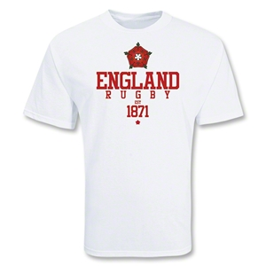 England Country 1871 Rugby T-Shirt (White)