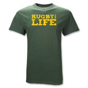 Rugby For Life T-Shirt (Dk Green)