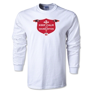 Keep Calm Alternative Rugby Commentary LS T-Shirt (White)