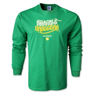 Shakle Draggers Alternative Rugby Commentary LS T-Shirt (Green)