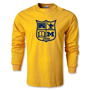 Michigan Rugby LS T-Shirt (Gold)