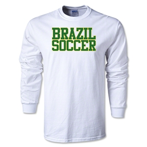 Brazil Soccer Supporter LS T-Shirt (White)