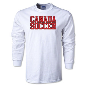 Canada Soccer Supporter LS T-Shirt (White)