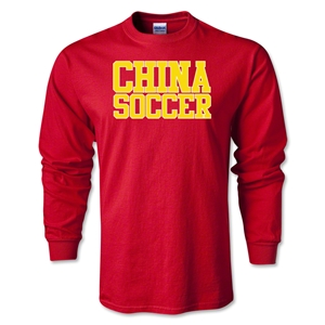 China Soccer Supporter LS T-Shirt (Red)