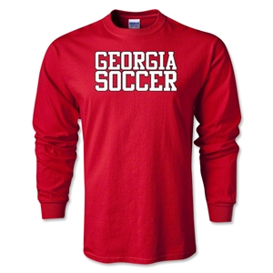 Georgia Soccer Supporter LS T-Shirt (Red)