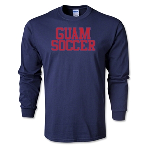 Guam Soccer Supporter LS T-Shirt (Navy)