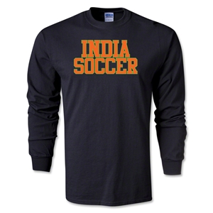 India Soccer Supporter LS T-Shirt (Black)