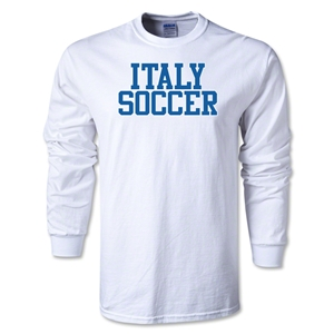Italy Soccer Supporter LS T-Shirt (White)