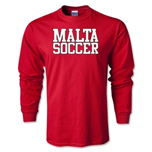 Malta Soccer Supporter LS T-Shirt (Red)