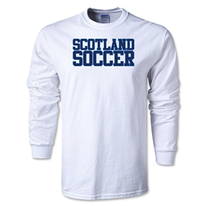 Scotland Soccer Supporter LS T-Shirt (White)