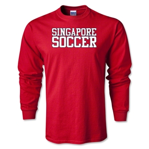 Singapore Soccer Supporter LS T-Shirt (Red)