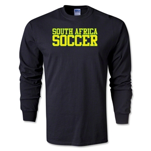 South Africa Soccer Supporter LS T-Shirt (Black)
