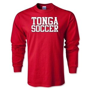 Tonga Soccer Supporter LS T-Shirt (Red)