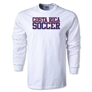 Costa Rica Soccer Supporter LS T-Shirt (White)