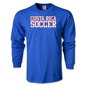 Costa Rica Soccer Supporter LS T-Shirt (Royal)