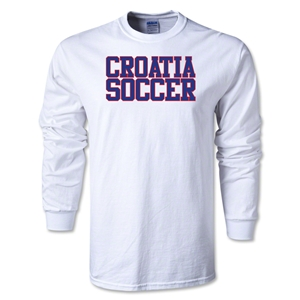 Croatia Soccer Supporter LS T-Shirt (White)