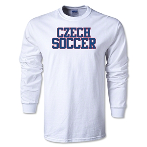 Czech Soccer Supporter LS T-Shirt (White)