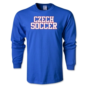 Czech Soccer Supporter LS T-Shirt (Royal)