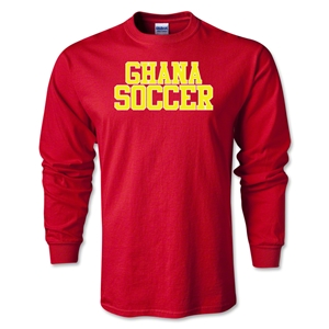 Ghana Soccer Supporter LS T-Shirt (Red)