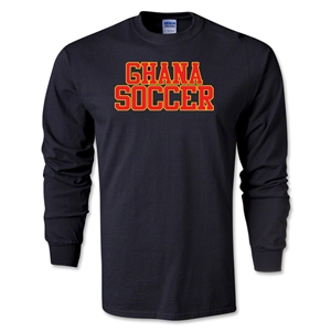 Ghana Soccer Supporter LS T-Shirt (Black)