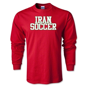 Iran Soccer Supporter LS T-Shirt (Red)