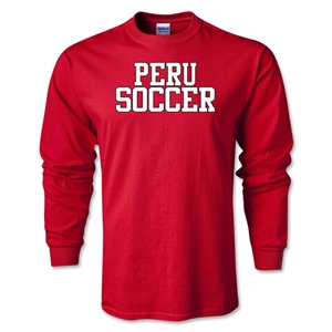 Peru Soccer Supporter LS T-Shirt (Red)