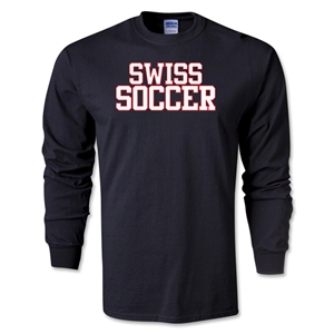 Swiss Soccer Supporter LS T-Shirt (Black)