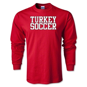 Turkey Soccer Supporter LS T-Shirt (Red)