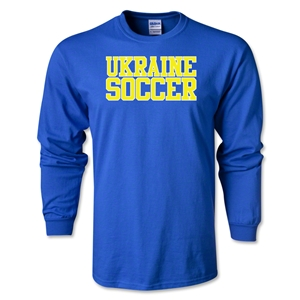Ukraine Soccer Supporter LS T-Shirt (Royal)