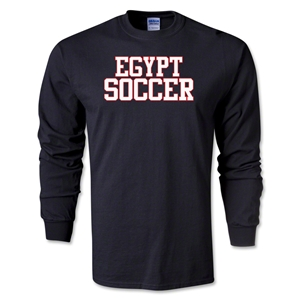 Egypt Soccer Supporter LS T-Shirt (Black)