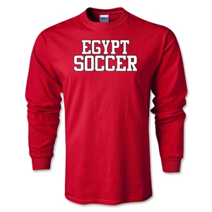 Egypt Soccer Supporter LS T-Shirt (Red)