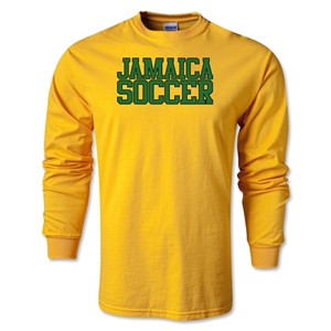 Jamaica Soccer Supporter LS T-Shirt (Gold)
