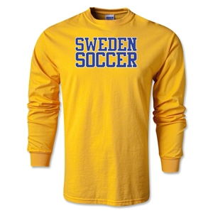 Sweden Soccer Supporter LS T-Shirt (Gold)