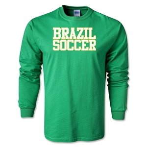Brazil Soccer Supporter LS T-Shirt (Green)