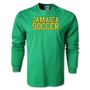 Jamaica Soccer Supporter LS T-Shirt (Green)