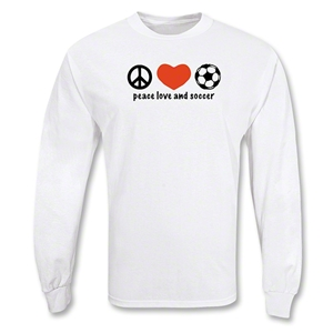 Peace Love & Soccer LS T-Shirt