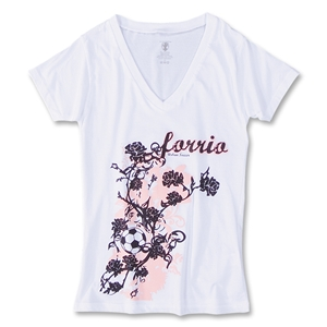 Rose Soccer T-Shirt (White)