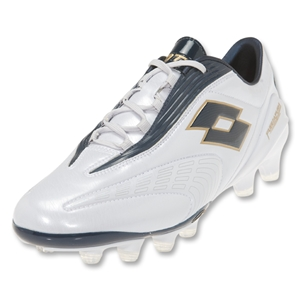 Lotto Fuerzapura L100 FG Soccer Shoes (Bright White/Metal Blue)