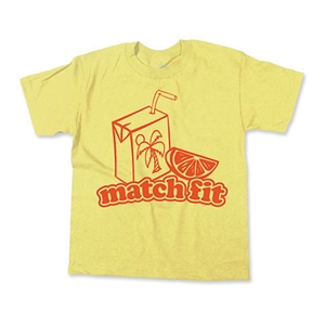Match Fit Juice Box Youth Soccer T-Shirt (Yellow)