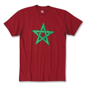 Objectivo Moroccan Flag Soccer T-Shirt (Maroon)