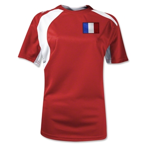 France Gambeta Women's Soccer Jersey (Red)