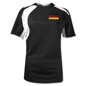 Germany Gambeta Women's Soccer Jersey (Black)