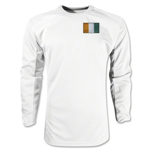 Cote d'Ivoire Gambeta LS Soccer Jersey (White)