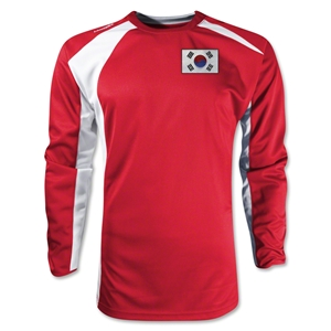 South Korea Gambeta LS Soccer Jersey (Red)