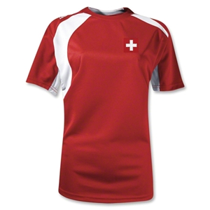 Switzerland Gambeta Women's Soccer Jersey (Red)