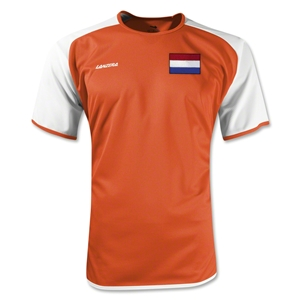Netherlands Torino Soccer Jersey (Orange/White)