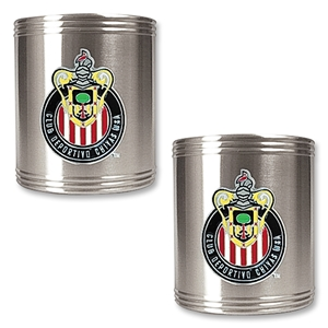Chivas USA 2 pc. Stainless Steel Can Holder Set