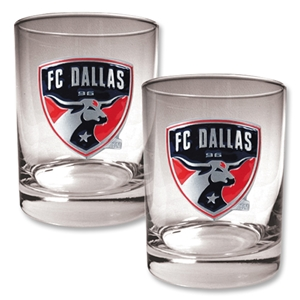 FC Dallas 2 pc. Rocks Glass Set